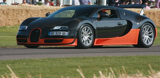 Carros mais velozes do mundo - Bugatti Veyron Super Sport
