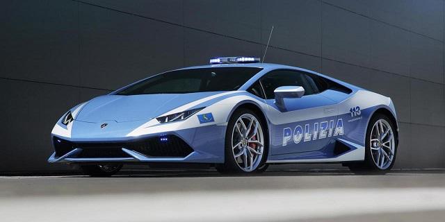 Top 10 carros de polícia mais caros do mundo - Lamborghini Huracán