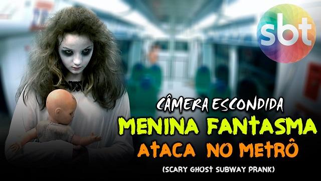 Top 10 pegadinhas mais assustadoras do Silvio Santos - Menina fantasma ataca no metrô