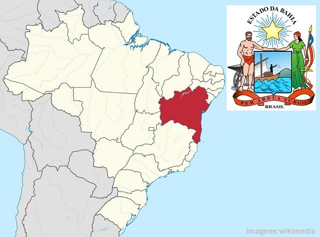 Estado da Bahia e brasão de armas