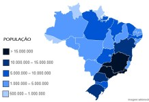 Estados mais populosos do Brasil