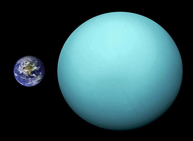 Urano é o terceiro maior planeta do sistema solar
