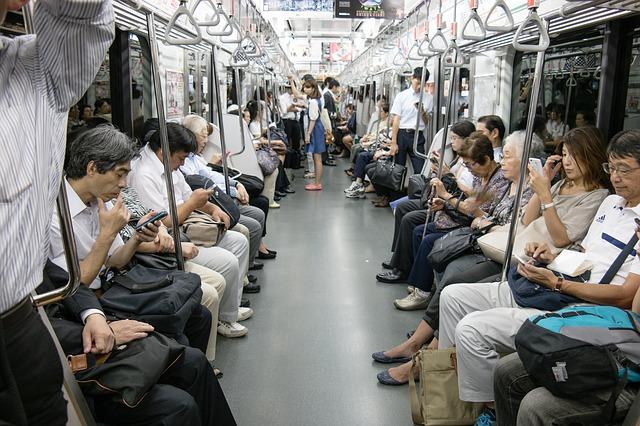 Telefones celulares em público