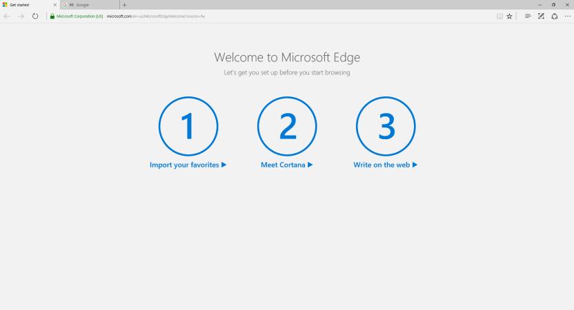 Как отключить заставку Microsoft Edge