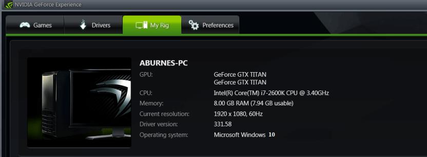 Загрузите программное обеспечение Nvidia GeForce Experience для Windows 10, 8.1