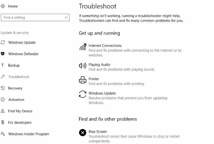 Как использовать новую страницу устранения неполадок обновления Win10 Creators Update
