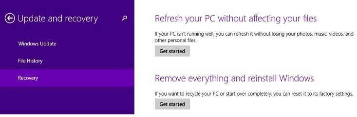 Проблемы с обновлением Windows 8.1, 10, вызванные отсутствием файлов