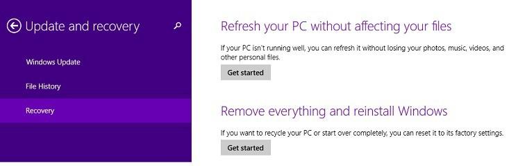 Windows 8.1, 10 Actualizar problemas causados por la falta de archivos