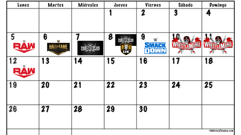 calendario wrestlemania