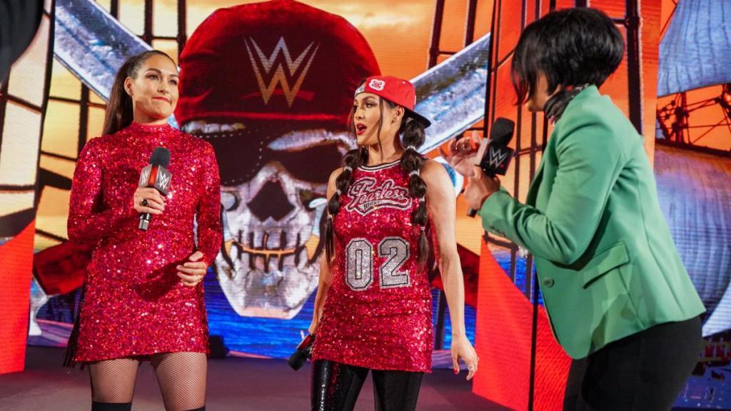 Brie y Nikki Bella en WM37
