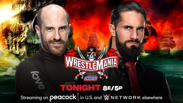 WM37 Cesaro vs Seth Rollins