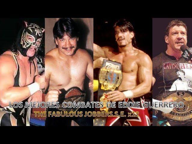 Eddie Guerrero con varios cinturones