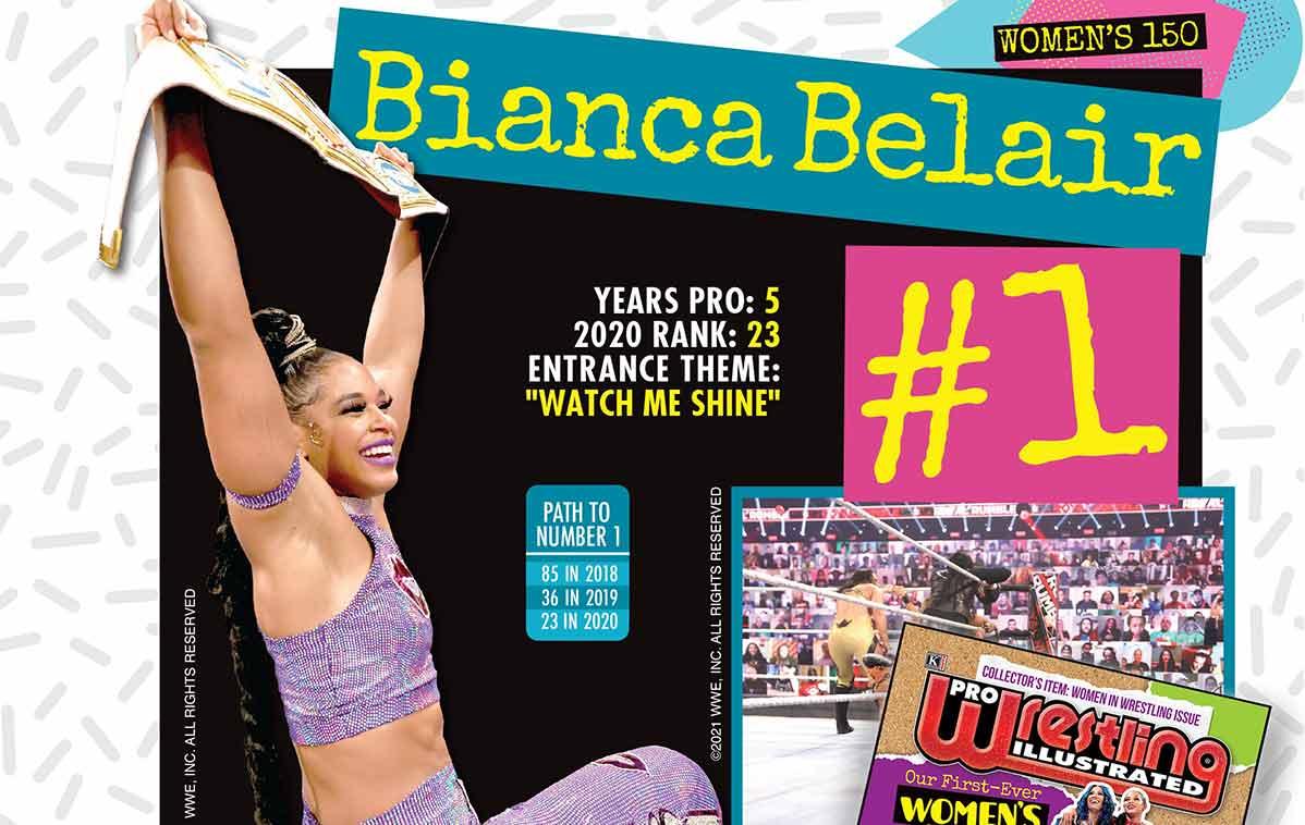 Bianca Belair mejor luchadora de 2021 para PWI