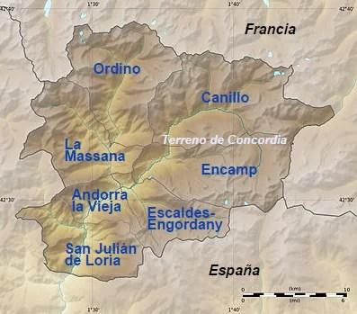 Mapa Político Andorra 2