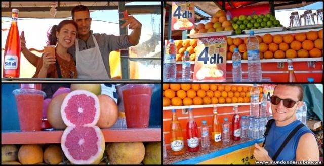 Zumo naranja Plaza Jemaa el Fna