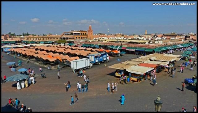 plaza Jemaa el Fna en Marrakech