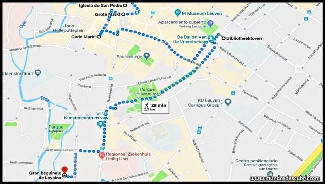 mapa lovaina ciudad
