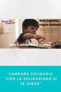 """Campaña Solidaria """"CON LA SOLIDARIDAD SÍ SE JUEGA"""""""
