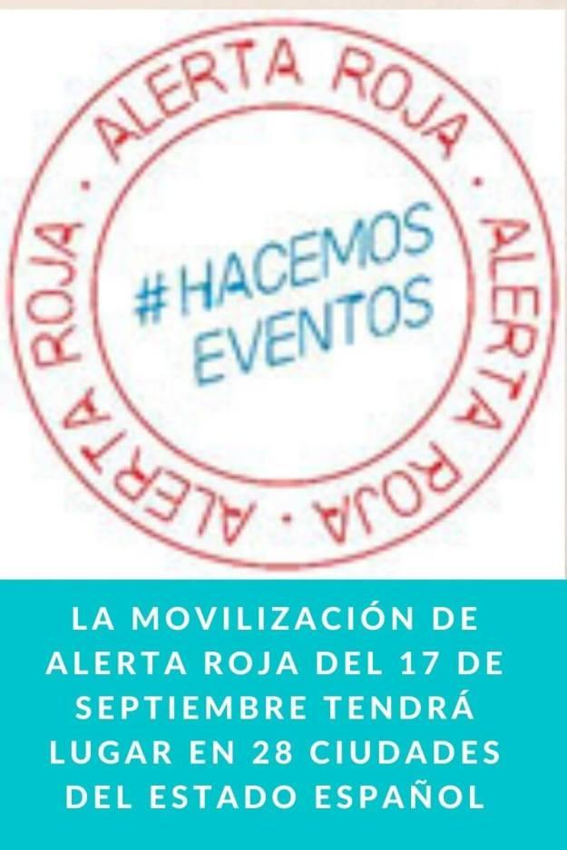 La movilización de Alerta Roja del 17 de septiembre tendrá lugar en 28 ciudades del Estado Español