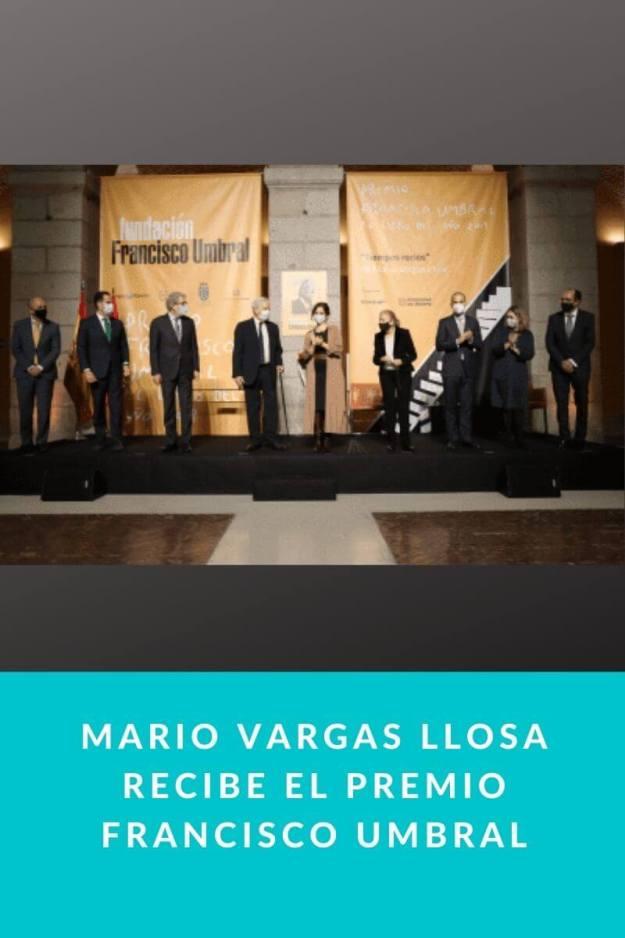 Mario Vargas Llosa recibe el Premio Francisco Umbral
