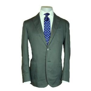 Stile Latino Herren Anzug Baumwolle Einreiher Oliv Luxus