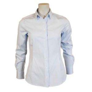 Artigiano Damen Bluse Hellblau Baumwolle Luxus