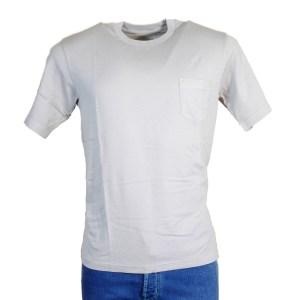 Fedeli T-Shirt Herren Steingrau Kurzarm Baumwolle
