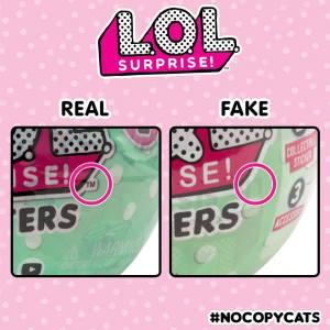 LOL Surprise fake etiqueta TM en logo