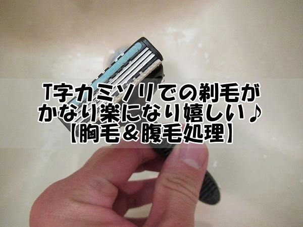 T字カミソリでの剃毛がかなり楽になり嬉しい!【胸毛&腹毛処理】