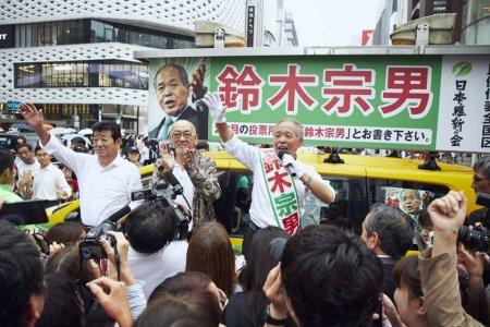 松山千春、銀座で渋谷で絶唱応援 急性喉頭炎から復帰1カ月足らず