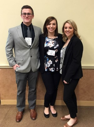 (L-R) Dustin Dailey, Hannah Swartwood, Madison Canfield