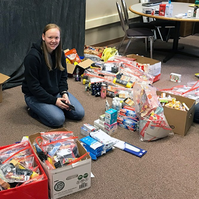 Mansfield University Student Veterans Organization sends care packages to local National Guard unit