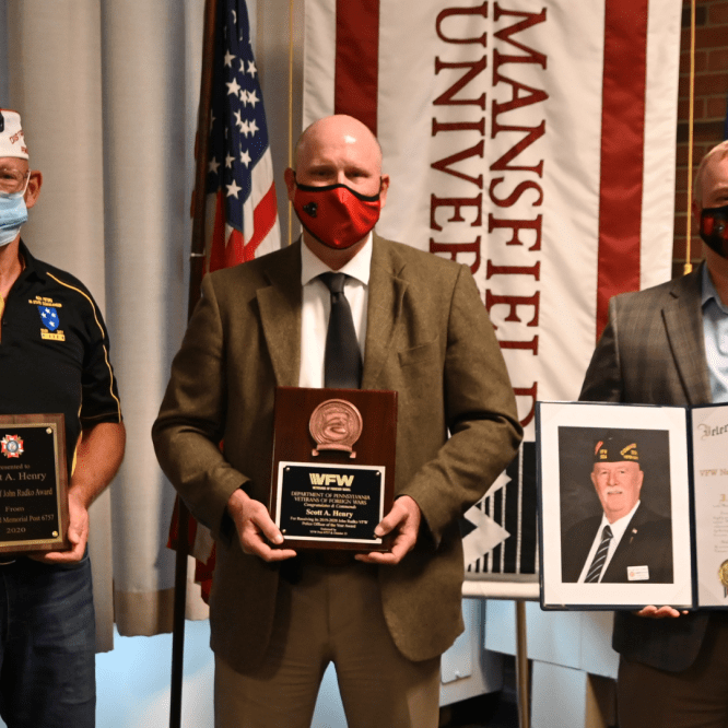 Mansfield University Police Chief Scott Henry '84 honored as Pennsylvania VFW Police Officer of the Year