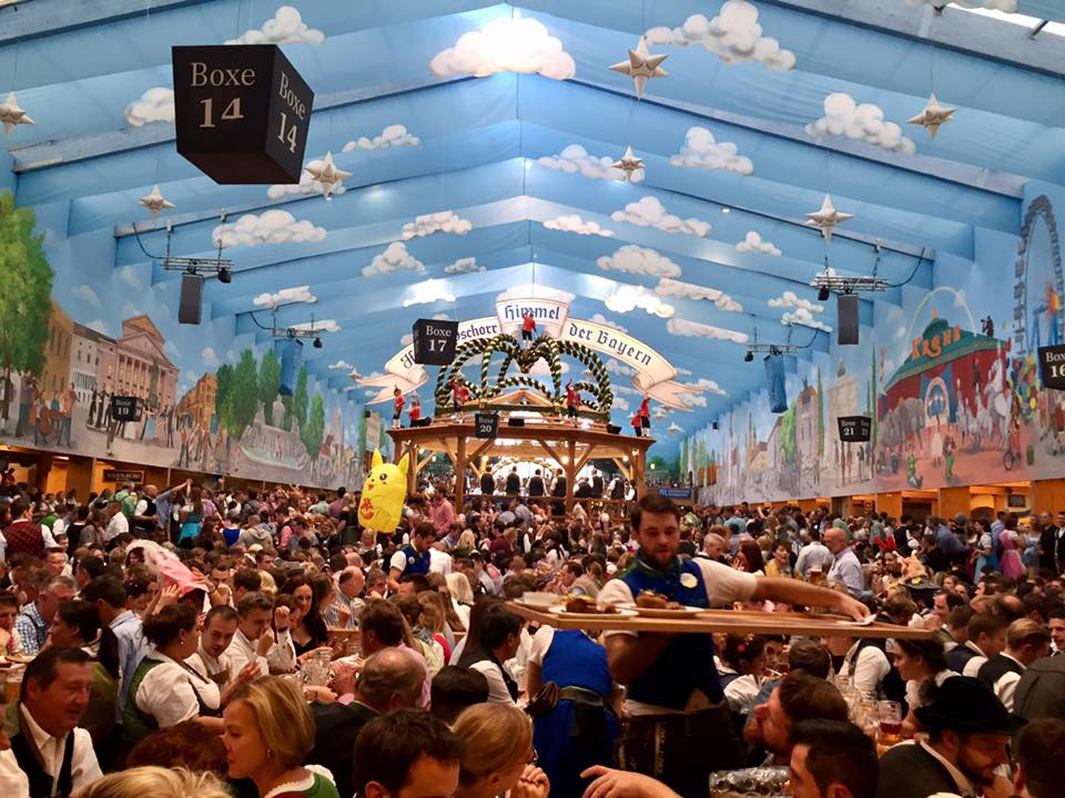 Oktoberfest 2017 beer hall party