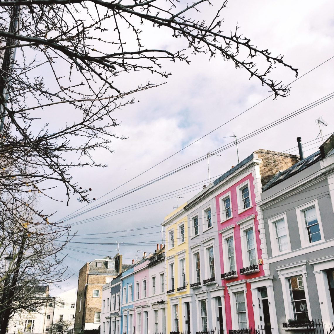 Notting Hill London colorful houses