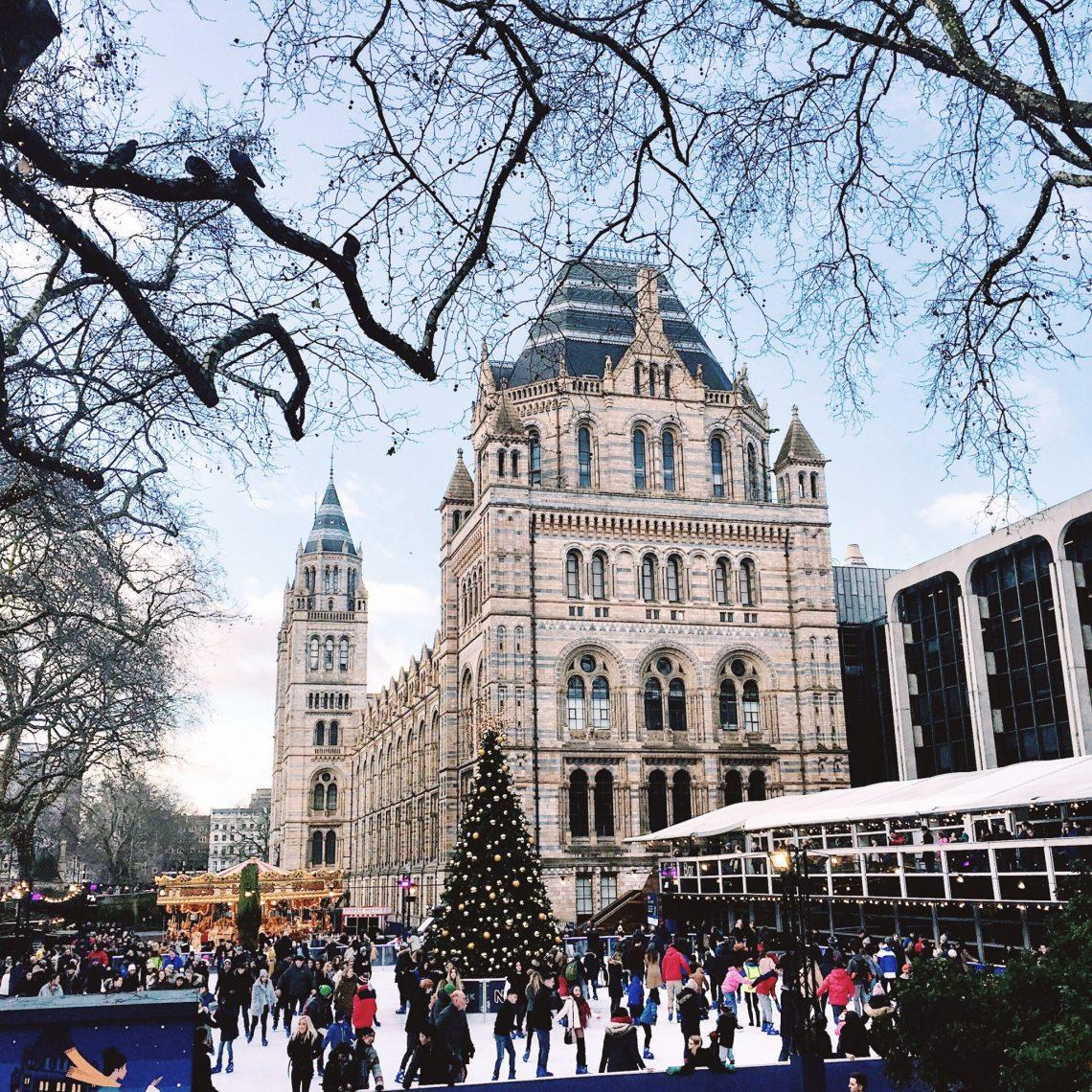 natural history museum london ice skating rink