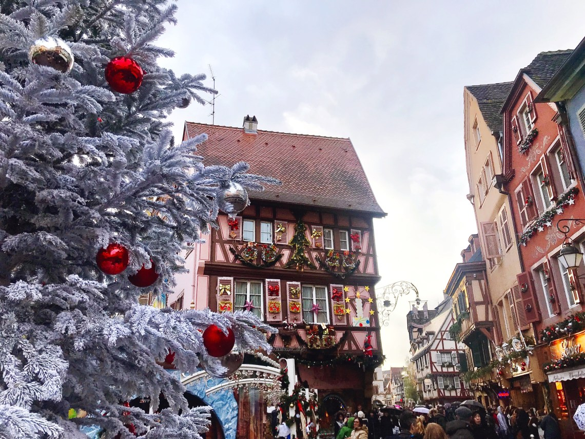 Christmas Markets in Colmar pink house