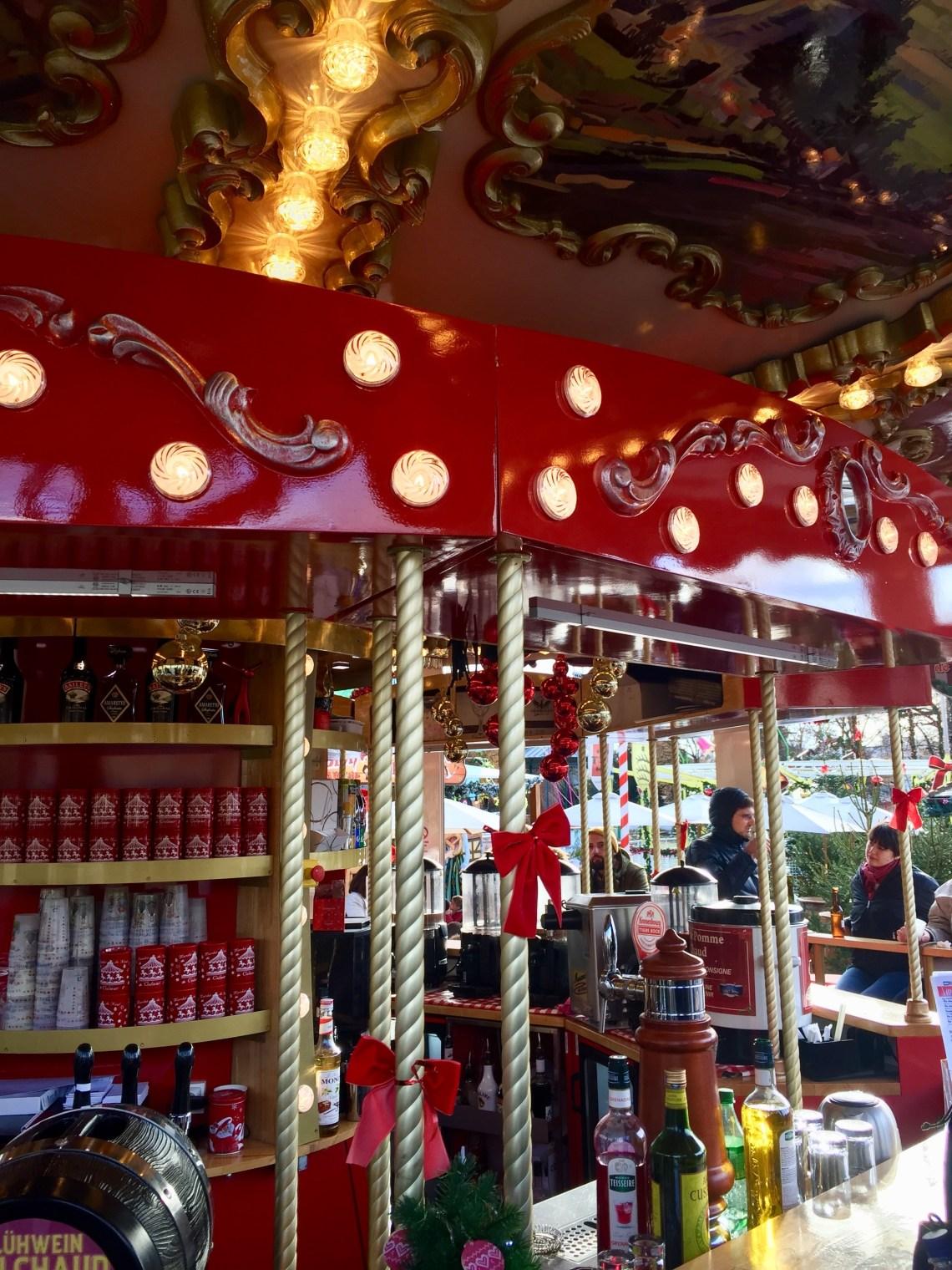 christmas carousel bar in Colmar France
