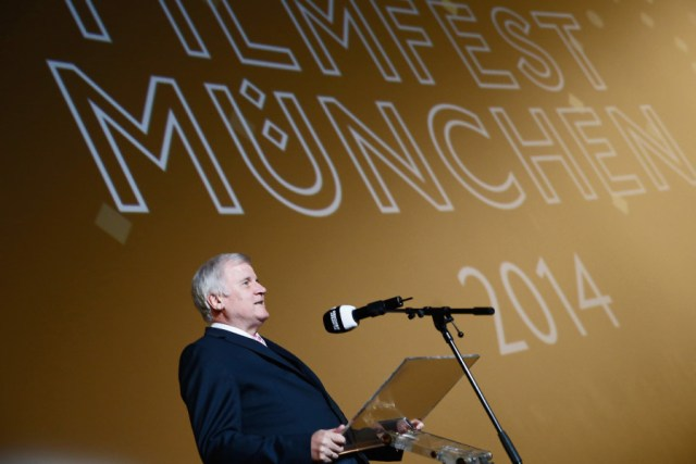 MUNICH, GERMANY - JUNE 27:  Horst Seehofer speaks on stage during the Opening Night of the Munich Film Festival 2014 at Mathaeser Filmpalast on June 27, 2014 in Munich, Germany.  (Photo by Andreas Rentz/Getty Images for Filmfest Muenchen) *** Local Caption *** Horst Seehofer