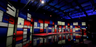 US Presidential Election Debate Stage -- munichFOTO