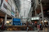 The Eaton Centre, a mammoth shopping mall.