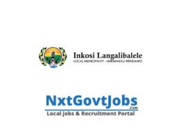 Inkosi Langalibalele Local Municipality vacancies 2021 | uThukela Government jobs | KwaZulu-Natal Municipality vacancies