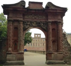 This is the gate into the grounds of Heidelberg Castle.