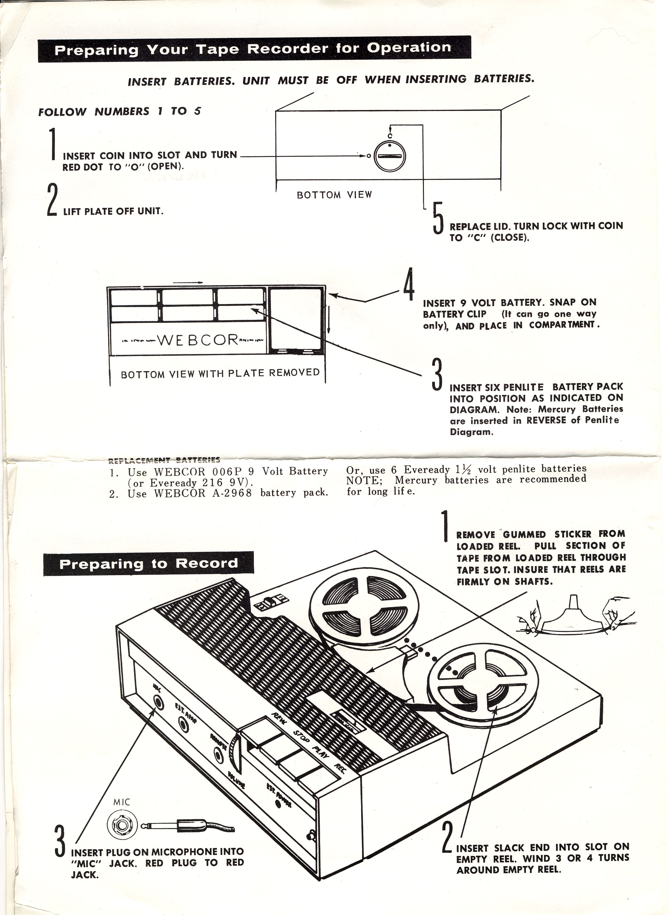 Tape Deck Of The Month Webcor Ep Microcorder