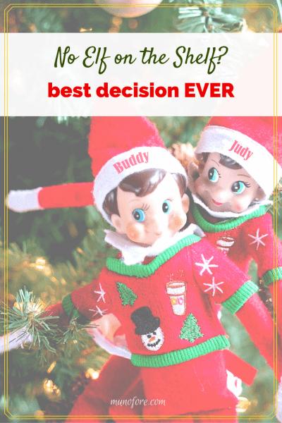 One mom's conversation with the Santa Surveillance Squad about behavior monitoring options. #elfonashelf #parenting #humor