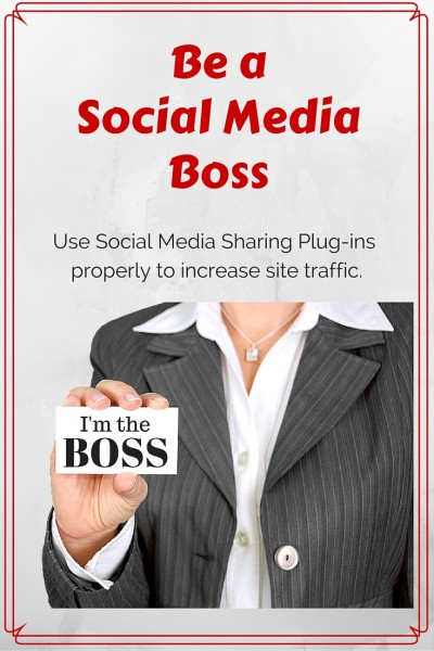 Make full use of your social media sharing plugin to increase site traffic. Blogging tips. Social Media guide.
