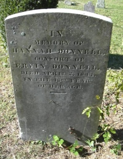 Hannah Cunningham Donnell grave