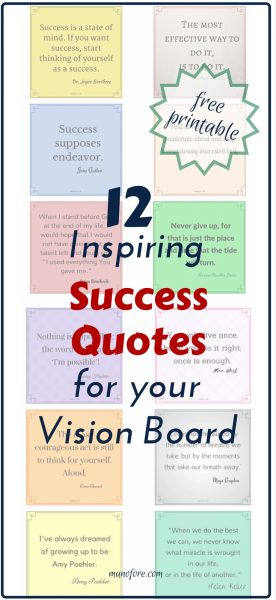 Free Printable: Inspirational success quotes