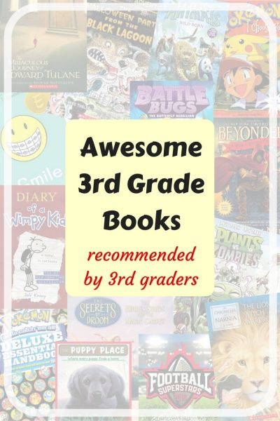 Awesome 3rd grade books recommended by 3rd graders. Children's Books, book series, chapter books.