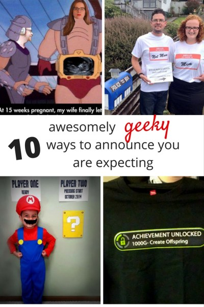 Geeky ways to announce you are expecting. Humorous and geeky ways to announce your pregnancy.